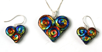 <span style='font-size: 16px;'>Dichroic Pendant And Earring Sets</span>