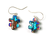 dangly dichroic earrings